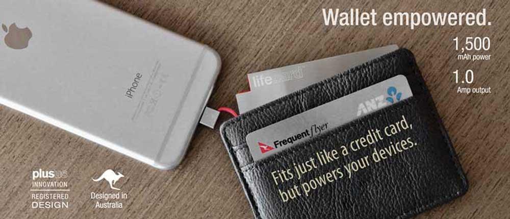 財布・定期入れに入る!充電ケーブル一体!携帯性抜群のスマホ充電用バッテリー