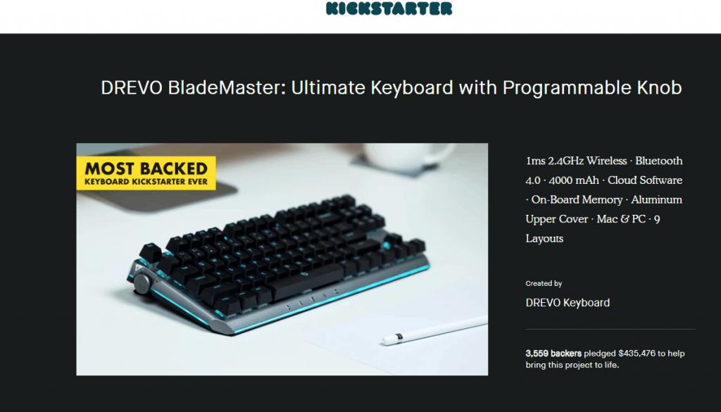 DREVO BladeMaster:プログラム可能なダイヤル付き究極キーボード