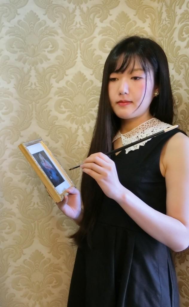 ◉片翼の画家・澁谷瑠璃 2月の銀座の個展で、あなたに生の絵を感じてほしい◉