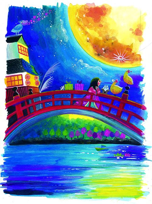 イラストレーターちゃずの「月旅カレンダー2017」を広めて絵で幸せを届けたい!